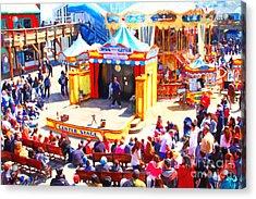 The Showman . Pier 39 . San Francisco California . 7d14337 Acrylic Print by Wingsdomain Art and Photography