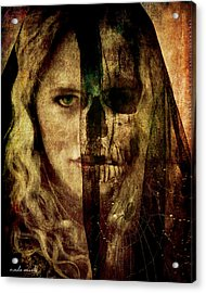 Acrylic Print featuring the digital art The Shroud by Nada Meeks