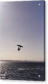 The Silhouette Of A Person Kite Acrylic Print by Jason Edwards