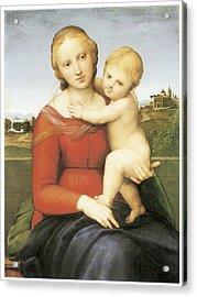 The Small Couper Madonna Acrylic Print by Raffaello Sanzio