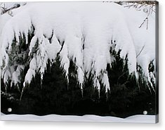 The Snow Cave Acrylic Print by Rand Swift