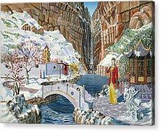 The Snow Princess Acrylic Print