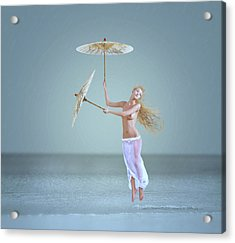 The Snowflake Dreamer Acrylic Print by Caras Ionut