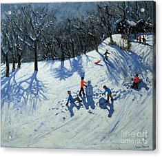 The Snowman  Acrylic Print by Andrew Macara