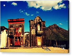 The Sombrero Bank In Old Tuscon Arizona Acrylic Print by Susanne Van Hulst
