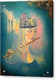 The Song Of The Forgotten Gods Acrylic Print by Elena  Makarova-Levina
