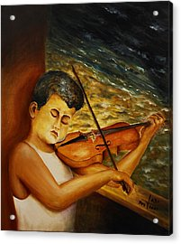 Acrylic Print featuring the painting The Sound Of Music by Itzhak Richter