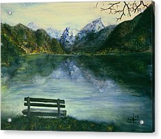 Acrylic Print featuring the painting The Sound Of Silence by Itzhak Richter