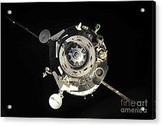 The Soyuz Tma-17 Spacecraft Departs Acrylic Print by Stocktrek Images