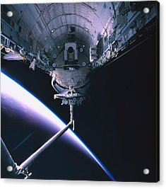The Space Shuttle With Its Cargo Bay Open Acrylic Print by Stockbyte