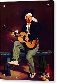 The Spanish Singer Acrylic Print by Pg Reproductions