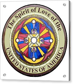 The Spirit Of Love Of The United States Of America Acrylic Print