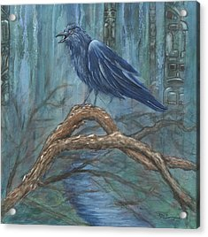 The Spirit Of Trickster Acrylic Print by Melodie Douglas