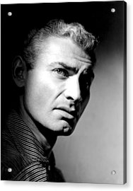 The Spoilers, Jeff Chandler, 1955 Acrylic Print by Everett