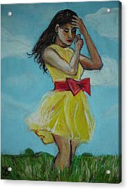 The Spring Bow Dress Acrylic Print by Adam Kissel