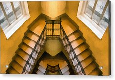 The Staircase Reflection Acrylic Print by Odon Czintos