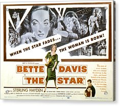 The Star, Bette Davis, Sterling Hayden Acrylic Print by Everett