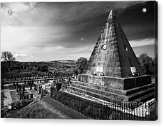 The Star Pyramid Near Valley Cemetery Stirling Scotland Uk Acrylic Print by Joe Fox