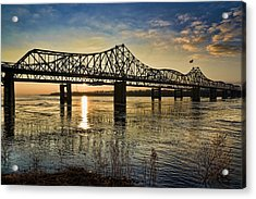 Acrylic Print featuring the pyrography The State Line by Ray Devlin