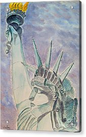 The Statue Of Liberty Acrylic Print by Eva Ason
