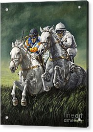 The Steeplechase Acrylic Print by Thomas Allen Pauly