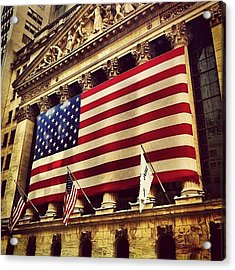 The Stock Exchange Gets Patriotic Acrylic Print