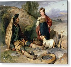 The Stone Breaker And His Daughter Acrylic Print by Sir Edwin Landseer
