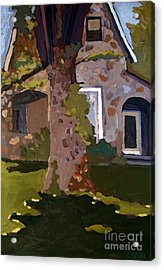 The Stone House On Laughing Waters Acrylic Print by Charlie Spear