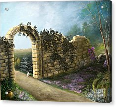 The Stone Wall Acrylic Print by Patricia Lang