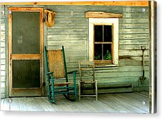 Acrylic Print featuring the photograph The Stories They Could Tell by Myrna Bradshaw