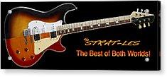 The Strat Les Guitar Acrylic Print