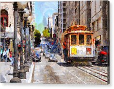 The Streets Of San Francisco . 7d7263 Acrylic Print by Wingsdomain Art and Photography