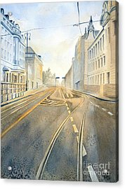 The Streets Of Zagreb  Acrylic Print