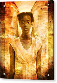 Acrylic Print featuring the photograph The Strength Of Angels by Nada Meeks
