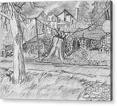 The Stump Acrylic Print by Jonathan Armes