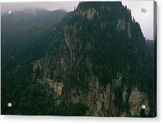 The Sumela Monastery Clings To Mountain Acrylic Print by Randy Olson