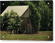 The Summer Barn Acrylic Print by Rebecca Sherman