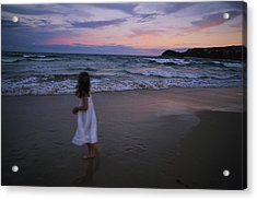 The Sun Begins To Set Over Manley Acrylic Print by Annie Griffiths