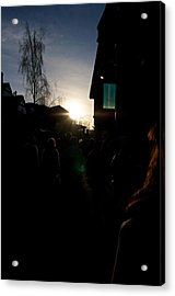 The Sun Departs Whistler Bc Acrylic Print by JM Photography
