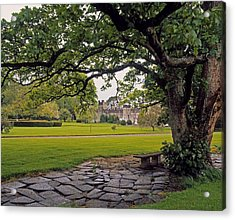 The Sundial Terrace, Glin Castle, Co Acrylic Print by The Irish Image Collection