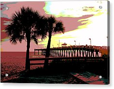 Acrylic Print featuring the mixed media The Sunset by Charles Shoup