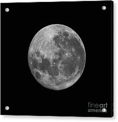 The Supermoon Of March 19, 2011 Acrylic Print by Phillip Jones