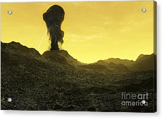 The Surface Of An Infernal Planet Acrylic Print by Fahad Sulehria