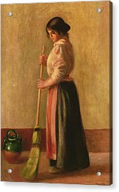 The Sweeper Acrylic Print by Pierre Auguste Renoir