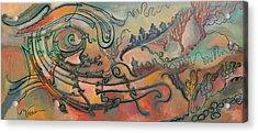 Acrylic Print featuring the painting The Swirl by Valentina Plishchina