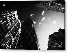 The Swiss Re Gherkin Building At 30 St Mary Axe City Of London England Uk United Kingdom Acrylic Print by Joe Fox