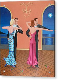 The Tango Acrylic Print by Tracy Dennison