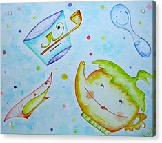 The Tea Family Acrylic Print by Asida Cheng