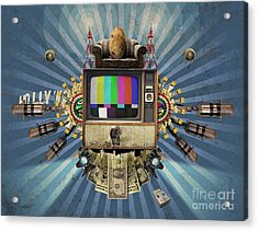 The Television Will Not Be Revolutionised Acrylic Print