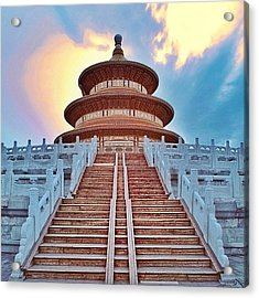 The Temple Of Heaven, Literally The Acrylic Print